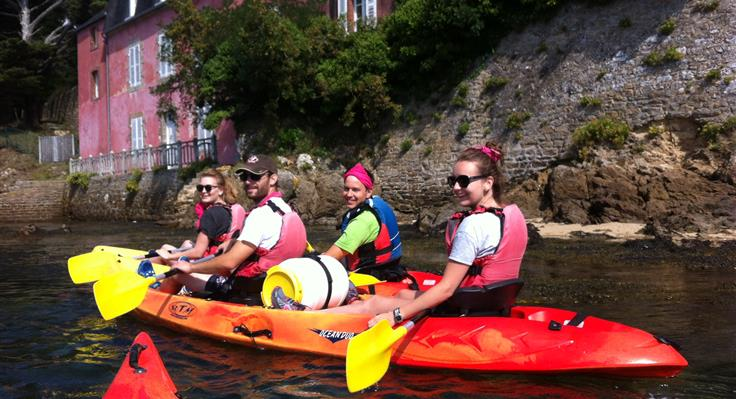 Course d'orientation kayak activite team building seminaire Vannes